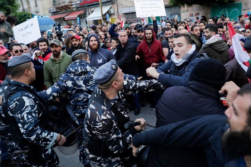 Protesty w Libanie trwają już od wielu dni /AFP