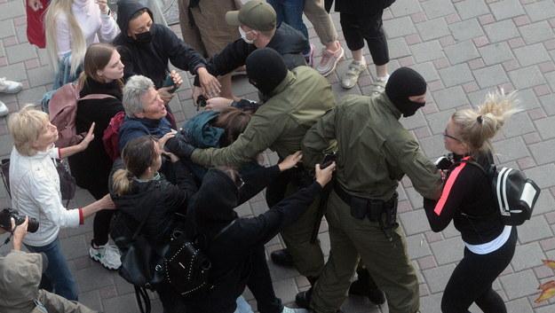 Protesty w Mińsku /STRINGER /PAP/EPA