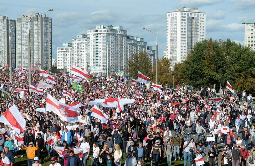 Protesty w Mińsku /PAP/EPA