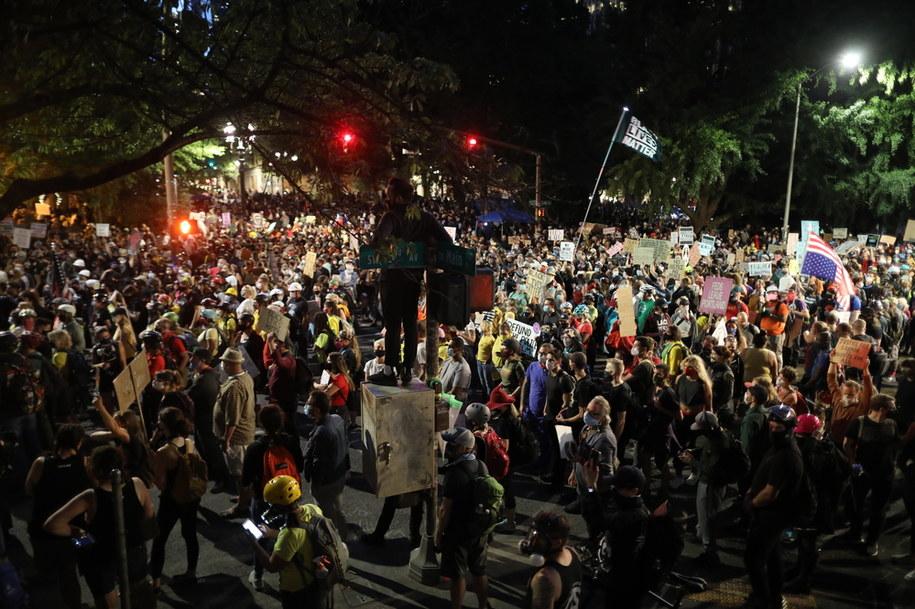 Protesty w Portland /DAVID SWANSON /PAP/EPA