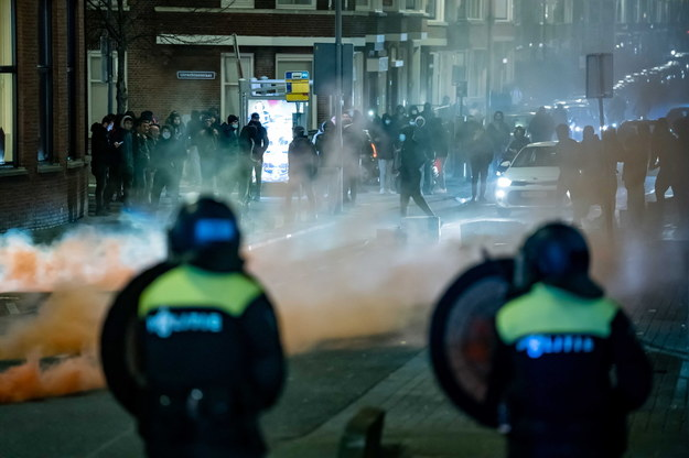 Protesty w Rotterdamie /KILLIAN LINDENBURG / MEDIATV /PAP/EPA
