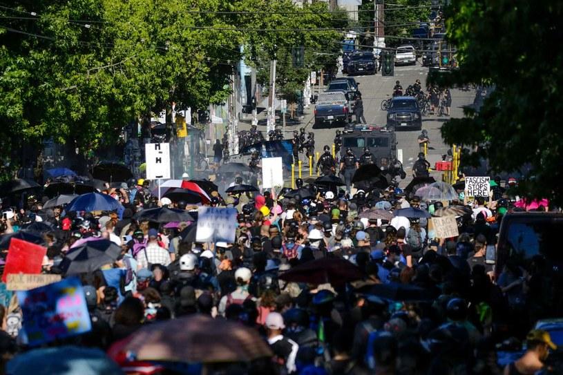 Protesty w Seattle odbywały już wwcześniej, na zdjęciu - pod koniec lipca /AFP