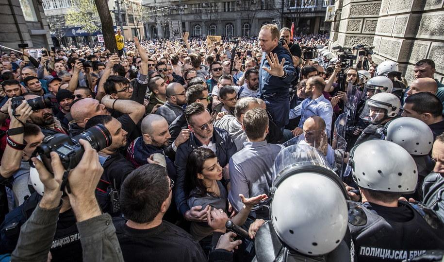 Protesty w Serbii trwają od kilku miesięcy /SRDJAN SUKI /PAP/EPA