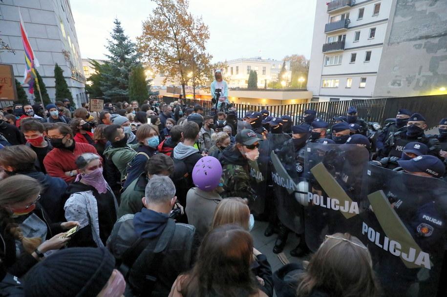 Protesty w Warszawie /Paweł Supernak /PAP