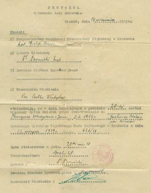 Protokół wykonania kary śmierci na ks. Władysławie Gurgaczu /IPN