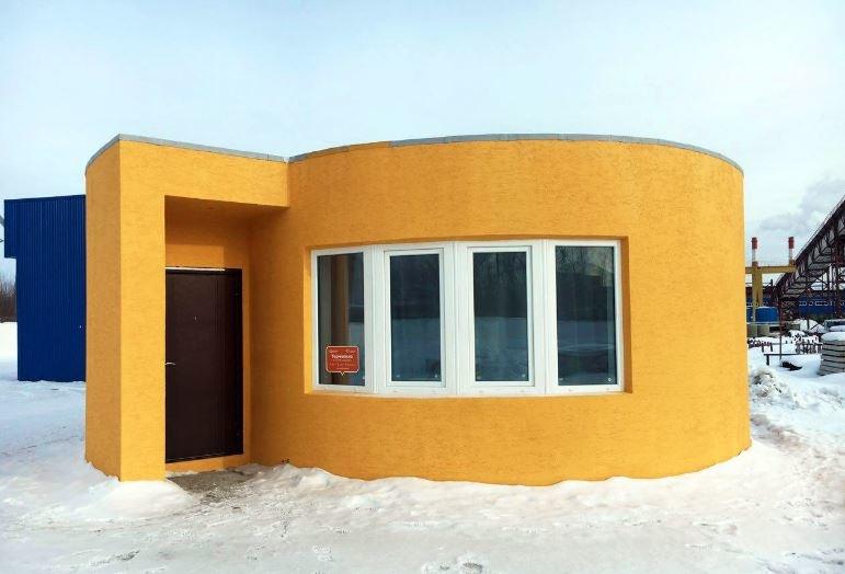Prototyp rosyjskiego domu z drukarki 3D. Fot. Apis Cor /materiały prasowe