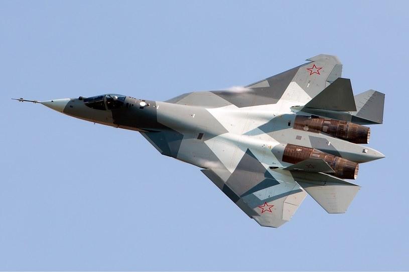 Prototyp SU-57 na pokazie lotniczym. Fot. Maxim Maksimov /Wikipedia