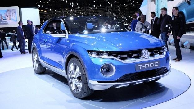 Prototypowy Volkswagen T-Roc na targach w Genewie. /Newspress