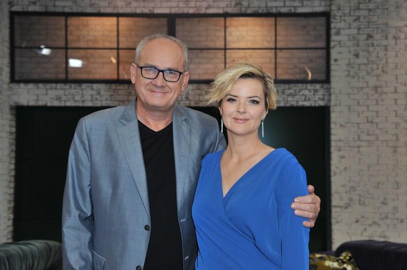 Prowadzący program Monika Zamachowska i Michał Olszański /Artur Zawadzki /Reporter
