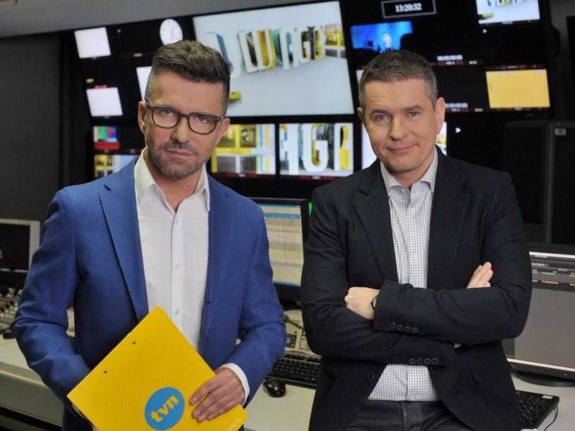 """Prowadzący program """"Uwaga!"""": Tomasz Kubat i Zbigniew Łuczyński /Wojciech Prokopczuk /TVN"""