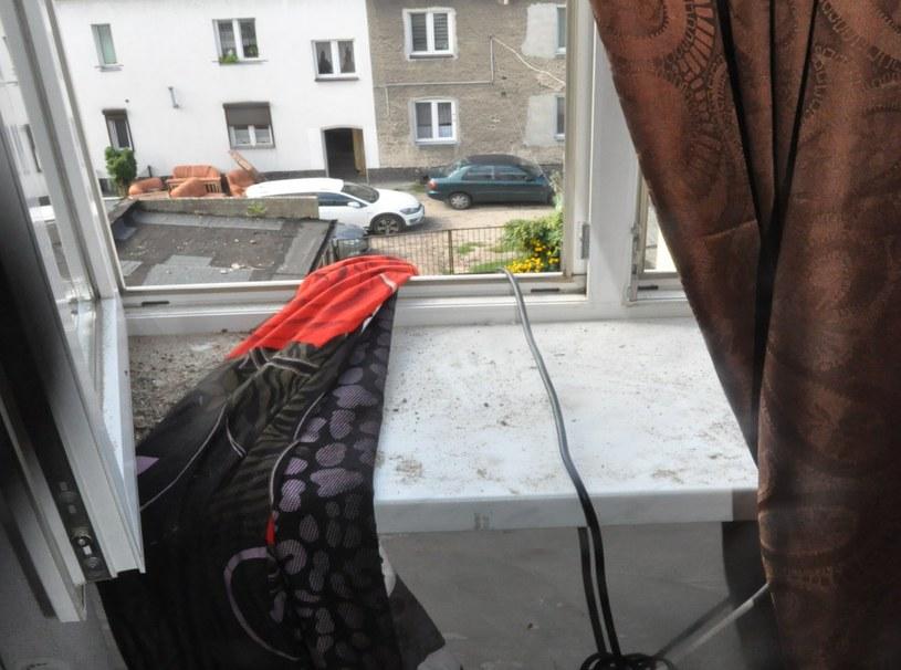 Prowizoryczna lina, którą złodziej chciał uciec /KPP Koło /materiały prasowe