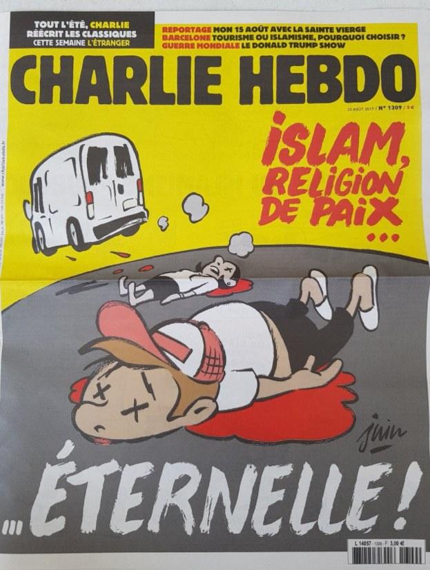 """Prowokująca okładka """"Charlie Hebdo"""" /Twitter"""