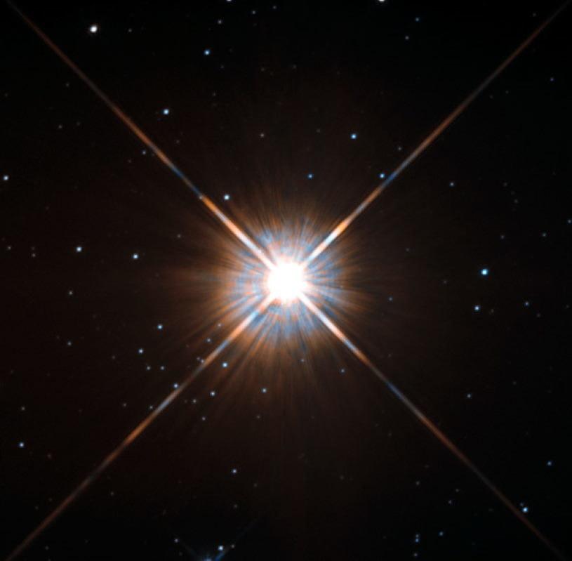 Proxima Centauri widziana przez Kosmiczny Teleskop Hubble'a /NASA