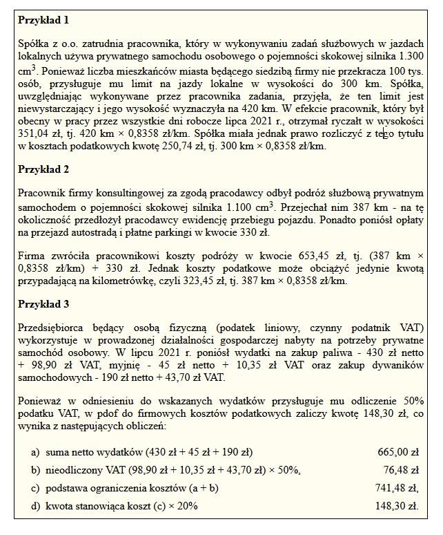 Prywatny samochód w firmie /Gazeta Podatkowa