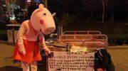 Przebrał się za świnkę Peppę, by pomóc córce