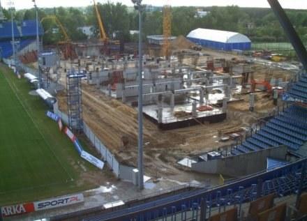 Przebudowana trybuna na stadionie w Poznaniu 6 maja 2009 /fot.www.pl2012.pl /