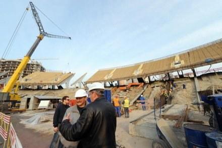 Przebudowywany stadion w Kijowie. /AFP
