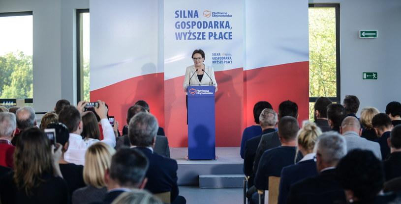 Przebywająca, 10 bm. w woj. lubuskim premier Ewa Kopacz (na zdj.) wzięła udział w konwencji regionalnej PO /Jakub Kamiński   /PAP
