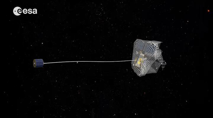 Przechwytywanie satelity za pomocą sieci - wizualizacja. /materiały prasowe