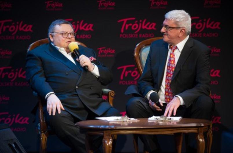 Przeciwko zwolnieniu z Trójki Jerzego Sosnowskiego protestują m.in. Wojciech Mann i Marek Niedźwiedzki /Bartosz Krupa /East News