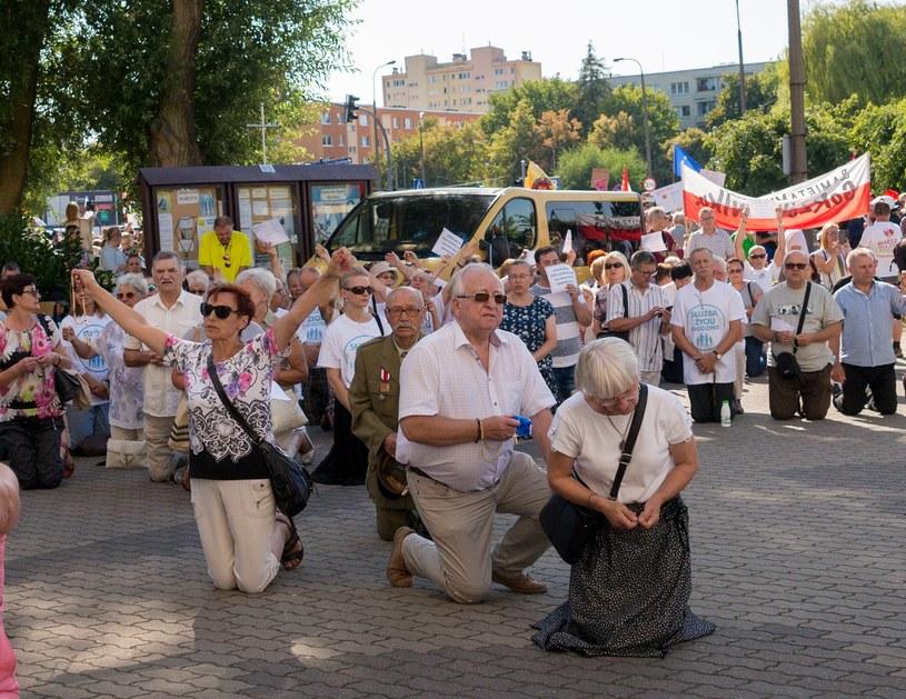 Przeciwnicy Marszu Równości /Marek Szandurski /East News