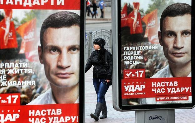 Przeciwnikiem partii Janukowycza będą partie Julii Tymoszenko i Witalija Kliczki /AFP