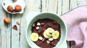 Przeciwstarzeniowa, czekoladowo-orzechowa owsianka