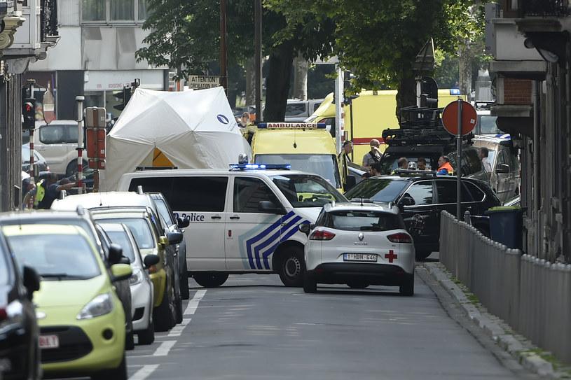 Przed atakiem w Liege napastnik zabił inną osobę /JOHN THYS /AFP