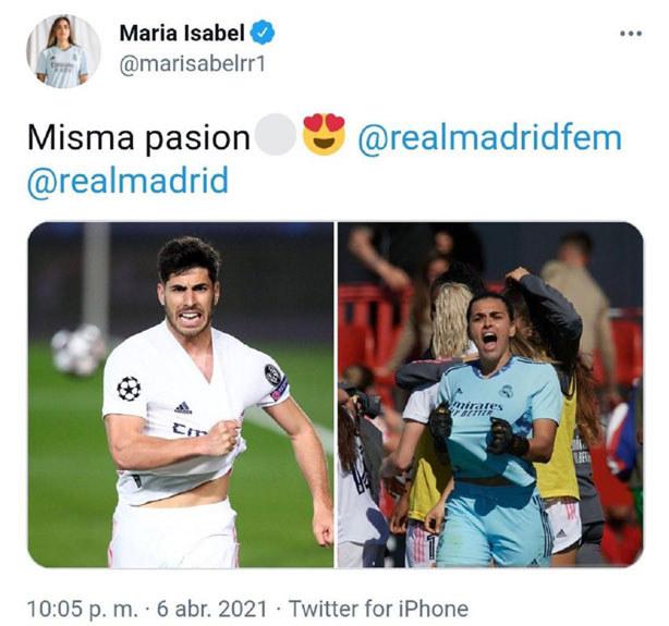 Przed meczem Real - Barcelona piłkarzem pozowali z hasłem #MismaPasion - akcją przeciw szowinizmowi w sporcie, zapoczątkowaną po chamskich komentarzach wobec bramkarki Realu, Misy /Twitter.com /materiał zewnętrzny
