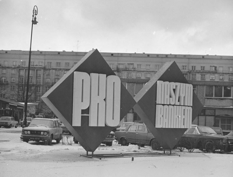 Przed oddziałami PKO ustawiały się kolejki /Z archiwum Narodowego Archiwum Cyfrowego