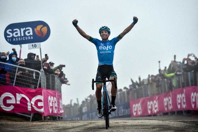Przed wyścigiem mało kto spodziewał się, że to właśnie Lorenzo Fortunato wygra 14. etap /TOMMASO PELAGALLI/AFP/East News /East News