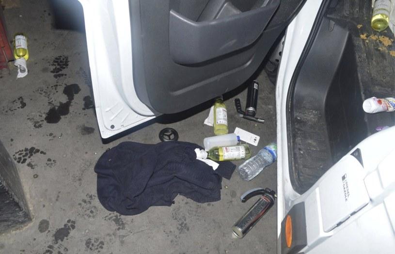 Przedmioty znalezione w samochodzie /LONDON METROPOLITAN POLICE    /PAP