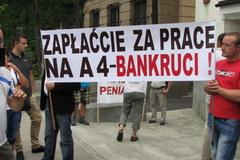 Przedsiębiorcy oszukani przy budowie A4 przyjechali do Sejmu
