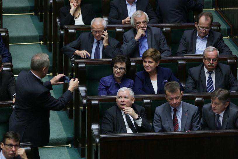 Przedstawiciele PiS w Sejmie /Sejm /PAP