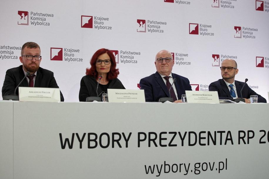 Przedstawiciele PKW /Mateusz Marek /PAP