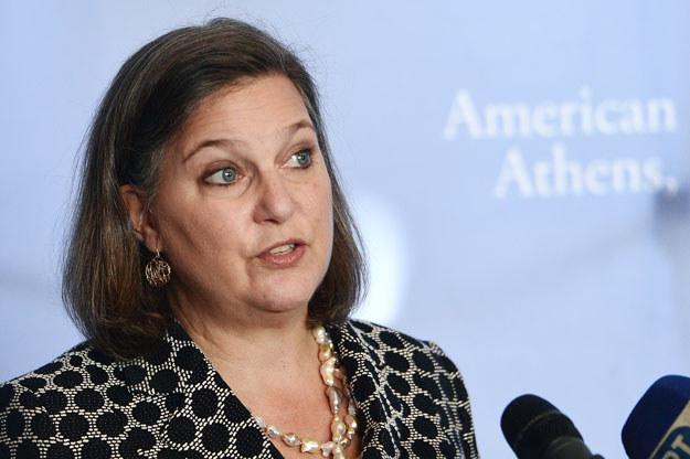 Przedstawicielka amerykańskiego Departamentu Stanu Victoria Nuland /AFP