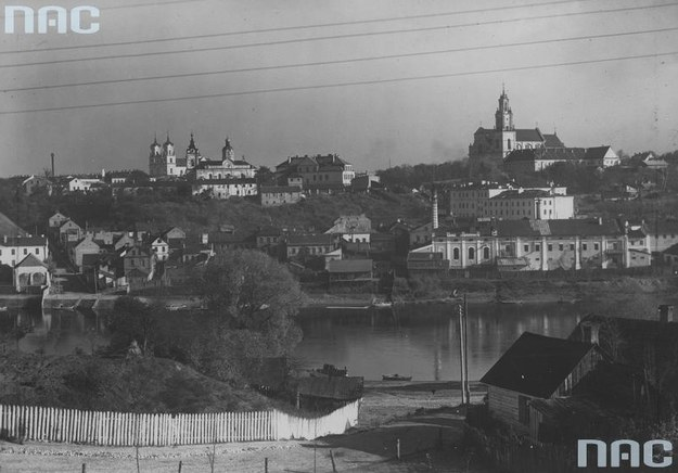 Przedwojenne Grodno: Widok ogólny miasta i rzeki Niemen /Z archiwum Narodowego Archiwum Cyfrowego