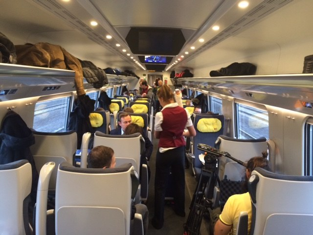 Przedział pociągu /Magdalena Gawlik /RMF FM