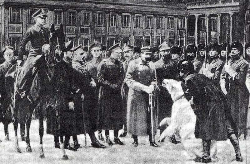 Przegląd oddziałów murmańczyków przez Naczelnego Wodza w Warszawie. Piłsudski cenił oficerów wywodzących się z korpusów wschodnich /INTERIA.PL/materiały prasowe