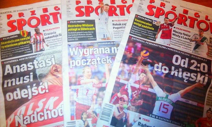 """""""Przegląd Sportowy"""" to jedyny ogólnopolski dziennik sportowy. /INTERIA.PL"""
