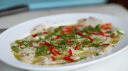 Przegrzebki w tempurze. Ceviche z makreli hiszpańskiej