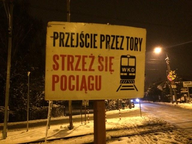 Przejazd kolejowy w podwarszawskiej Granicy /Michał Dobrołowicz /RMF FM