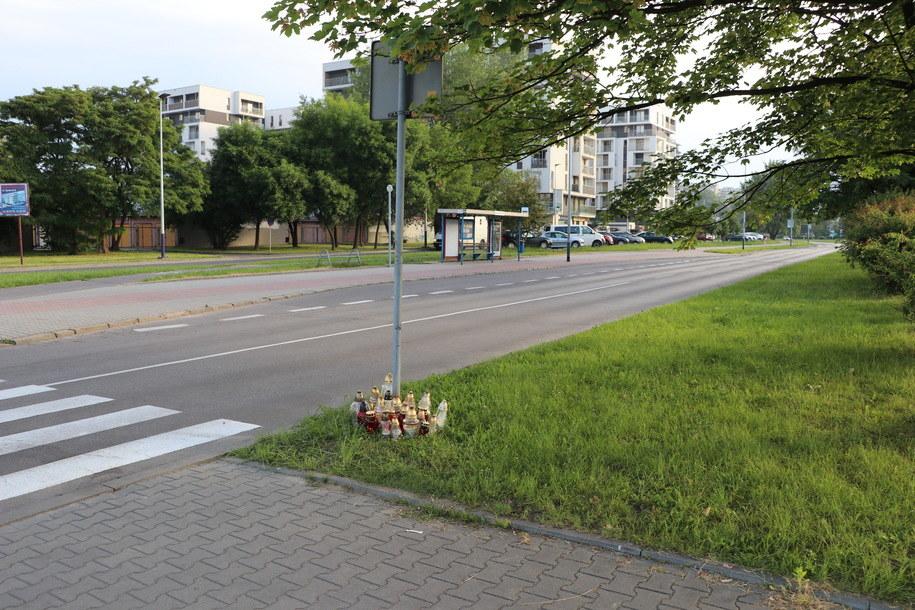 Przejście dla pieszych, gdzie zginął 23-latek /Jacek Skóra /RMF FM