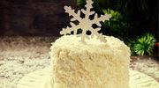 Przekładane ciasto kokosowe
