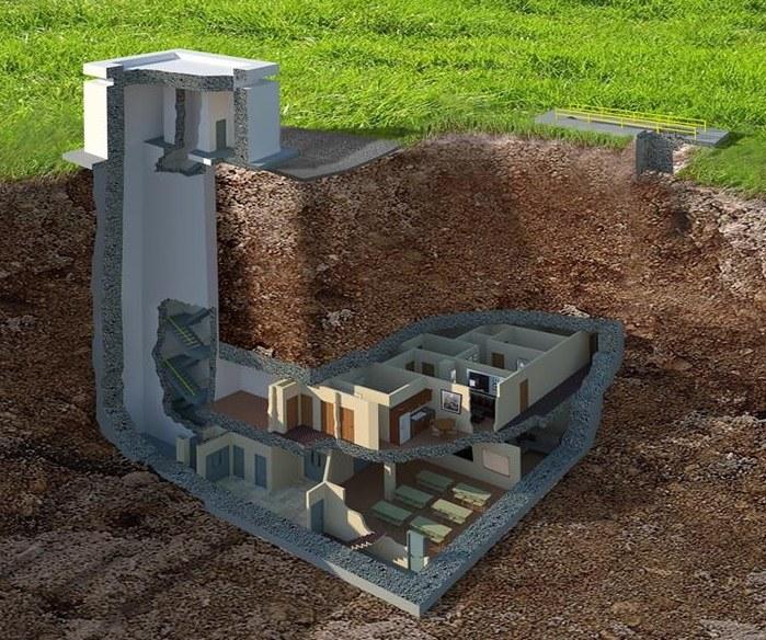 Przekrój przez bunkier. Fot. harrynorman.com /materiały promocyjne