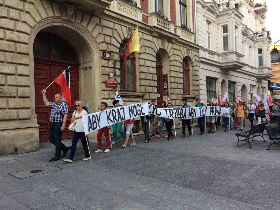 Przemarsz w Łodzi /Agnieszka  Wyderka /RMF FM