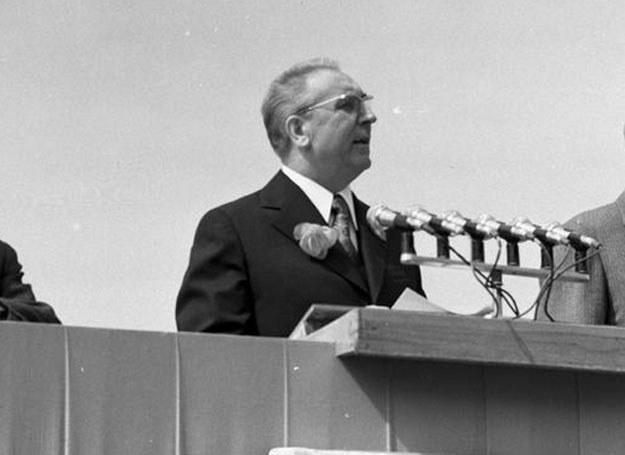 Przemawia towarzysz  Edward Gierek /Z archiwum Narodowego Archiwum Cyfrowego