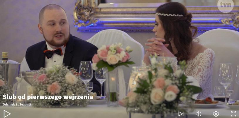 Przemek i Martyna podczas wesela /Nostalgia