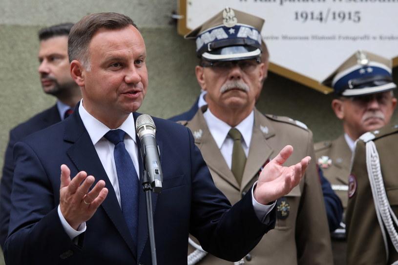 Przemówienie Andrzeja Dudy /Jacek Bednarczyk   /PAP