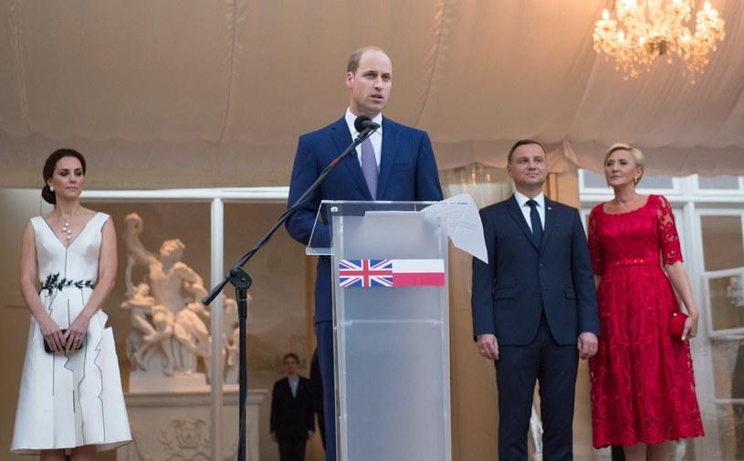 Przemówienie księcia Williama podczas uroczystej kolacji w Łazienkach /Splashnews/Eastnews
